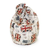 Puf Pera Super M British Flag