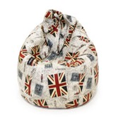 Puf Pera XL British Flag