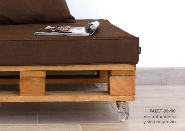 Mueble con palet de madera y antelina 80x80 for Mueble hecho con palet