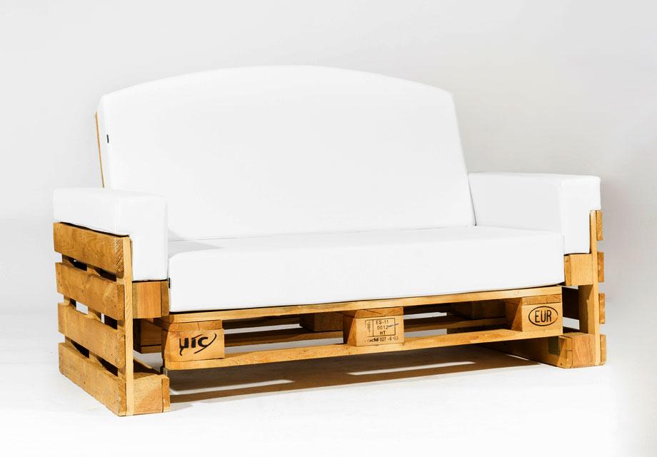Sofa de palet reclinable 120 for Ideas para hacer sillones con palets