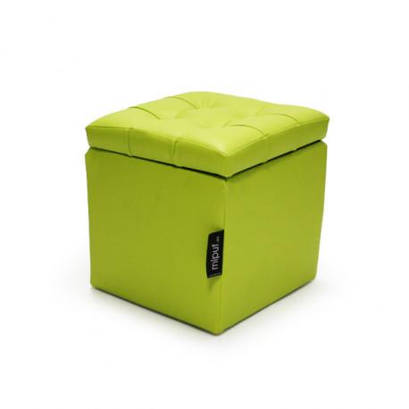 Puff Arcón 40x40x40 Polipiel Verde