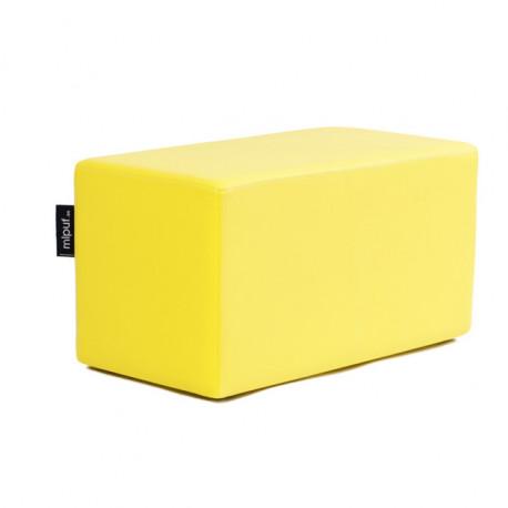 Puff Rectangular Cube 75x40 - Polipiel Rojo