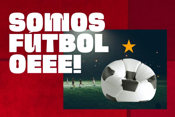 eurocopa con tu puff balon futbol