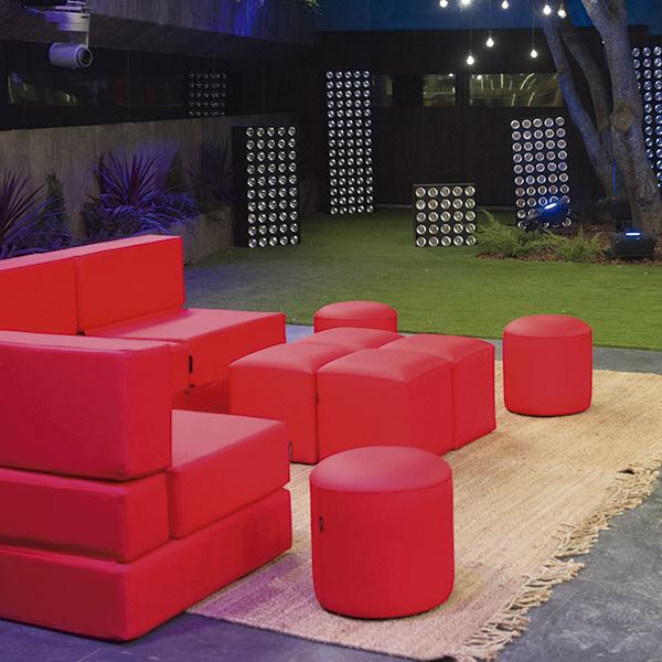 mobiliario color rojo para la casa de gran hemano