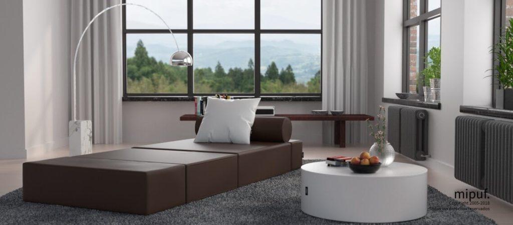 Muebles multifuncionales como los Puff Cama Plegables