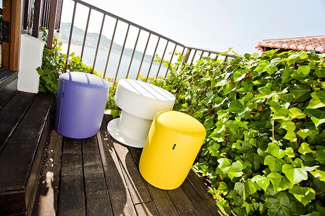 Puf Taburete cilindrico| Colores
