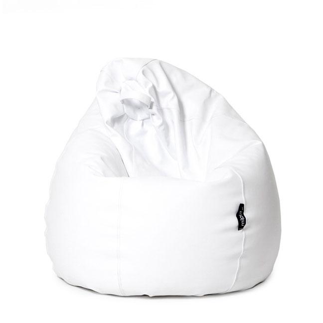 Puf Pera XL - Polipiel de color blanco