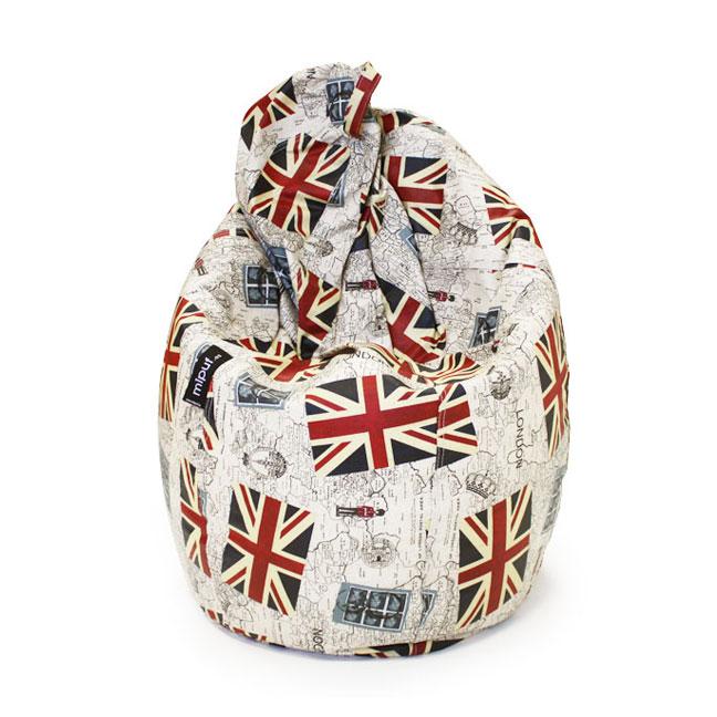 Puf Pera Super M - British Flag estampado