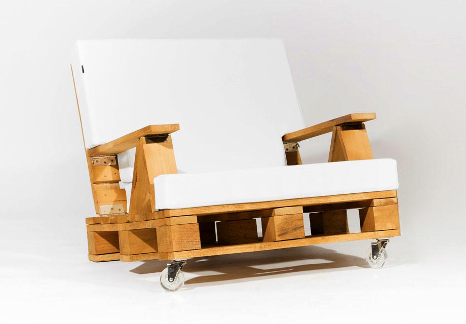 Sillon de palet reclinable 80 - Colchones para palets ...
