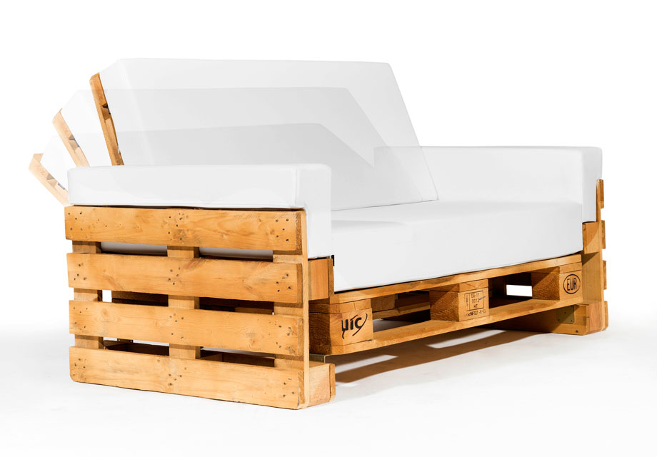Sofa de palet reclinable 120 for Cojines sofa palets